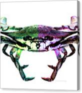 Two Sides - Duality Crab Art Canvas Print