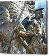 Two Soldiers Of The The African American Civil War Memorial -- The Spirit Of Freedom Canvas Print