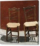 Two Spainisch Chairs  Canvas Print