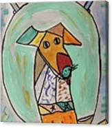 Two Star Greyhound Canvas Print