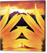Two Sunflower Sunset Canvas Print