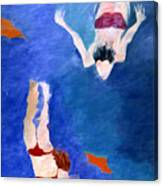 Two Swimmers Canvas Print