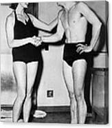 Two Swimming Stars Canvas Print