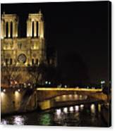 Two Towers Of Notre Dame Canvas Print