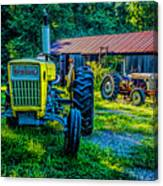 Two Tractors And A Barn 2697t Canvas Print