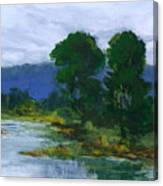 Two Trees In The Bay Land Canvas Print