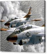 Two U.s. Navy T-2c Buckeye Aircraft Canvas Print