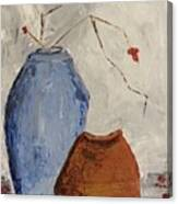 Two Vases Still Life Canvas Print