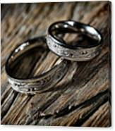 Two Wedding Rings With Celtic Design Canvas Print