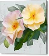 Two Wild Roses Canvas Print