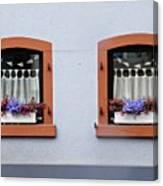 Two Windows In Schierstein Canvas Print