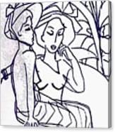 Two Women  Canvas Print