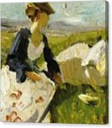 Two Women On The Hillside 1906 Canvas Print