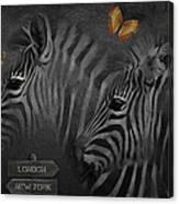Two Zebras Canvas Print