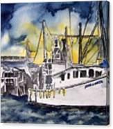 Tybee Island Georgia Boat Canvas Print