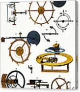 Types Of Clock Mechanism, 1810 Canvas Print