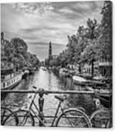 Typical Amsterdam - Monochrome Canvas Print