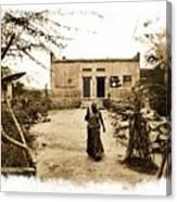 Typical House India Rajasthani Village 1e Canvas Print