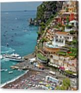 Tyrrhenian Sea Amalfi Coast Canvas Print