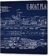 U-boat Submarine Plan Canvas Print