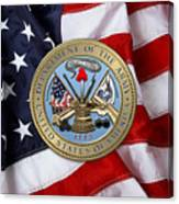 U. S. Army Seal Over American Flag. Canvas Print