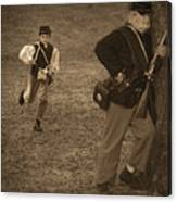 U. S. Civil War Messenger Boy On The Run Canvas Print
