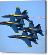 U S Navy Blue Angeles, Formation Flying Canvas Print