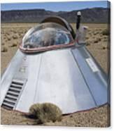 Ufo Landing Canvas Print