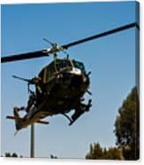 Uh-1 Huey Arrival Canvas Print