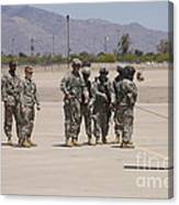 Uh-60 Black Hawk Aircrew Conduct Canvas Print