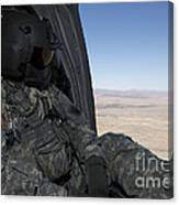 Uh-60 Black Hawk Crew Chief Takes Canvas Print