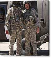 Uh-60 Black Hawk Crew Chiefs Canvas Print