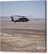 Uh-60 Black Hawk En Route To New Mexico Canvas Print