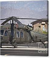 Uh-60 Black Hawk Helicopter At Pinal Canvas Print