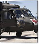 Uh-60 Black Hawk Refuels Canvas Print