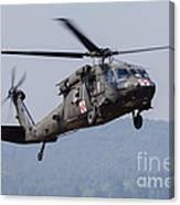 Uh-60a Black Hawk Medevac Helicopter Canvas Print