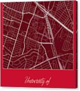 Uh Street Map - University Of Houston In Houston Map Canvas Print