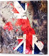 Uk Flag Map Canvas Print