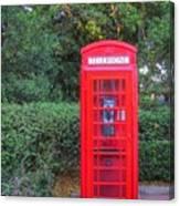 U.k. Phone Booth Canvas Print