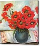 Ukrainian Poppies Canvas Print