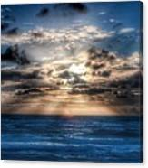 Ultra Blue Sunrise Canvas Print