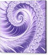 Ultra Violet Luxe Spiral Canvas Print