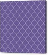 Ultra Violet Quatrefoil Canvas Print