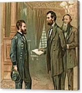 Ulysses S. Grant With Abraham Lincoln Canvas Print