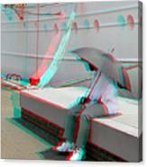 Umbrella Man - Use Red-cyan 3d Glasses Canvas Print
