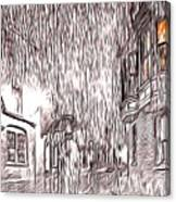 Umbrella Man Canvas Print