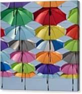 Umbrella Rainbow Canvas Print