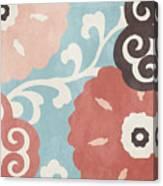 Umbrella Skies I Suzani Pattern Canvas Print