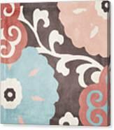 Umbrella Skies II Suzani Pattern Canvas Print
