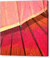 Umbrella Sunrise Canvas Print